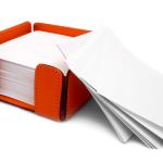 Block Notes con supporto in cuoio