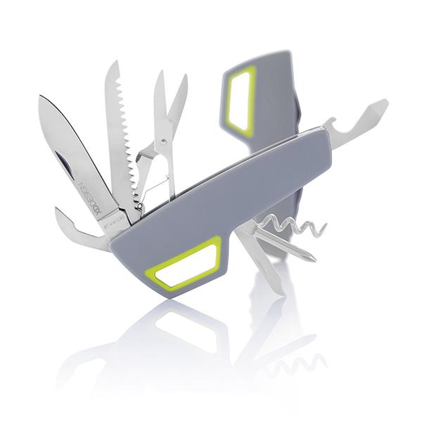 INP135112 Coltellino tascabile Tovo,grigio-lime
