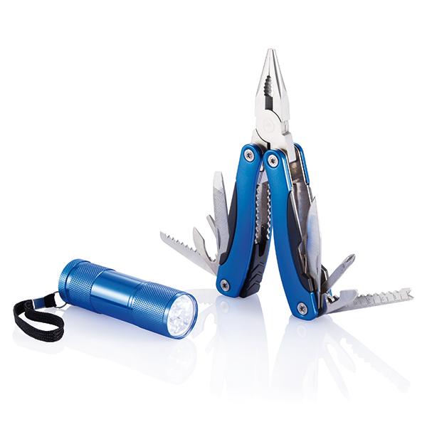 INP238085 Set multiattrezzo e torcia, blu