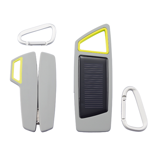 INP238152  Set torcia solare & multiattrezzo Tovo, grigio-lime 1