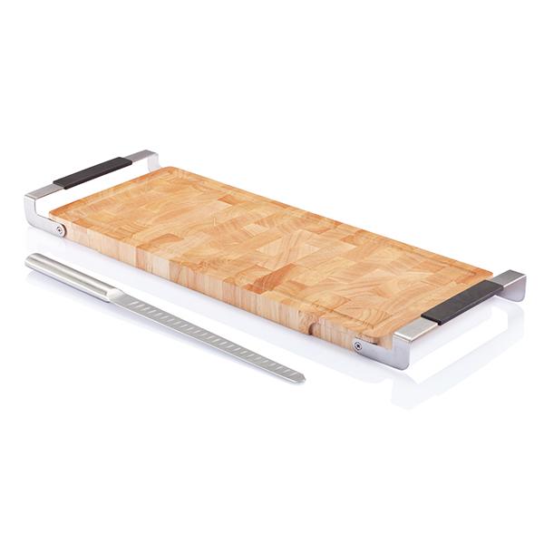 INP261149 Set coltello e tagliere Laxx, per salmone-prosciutto 2