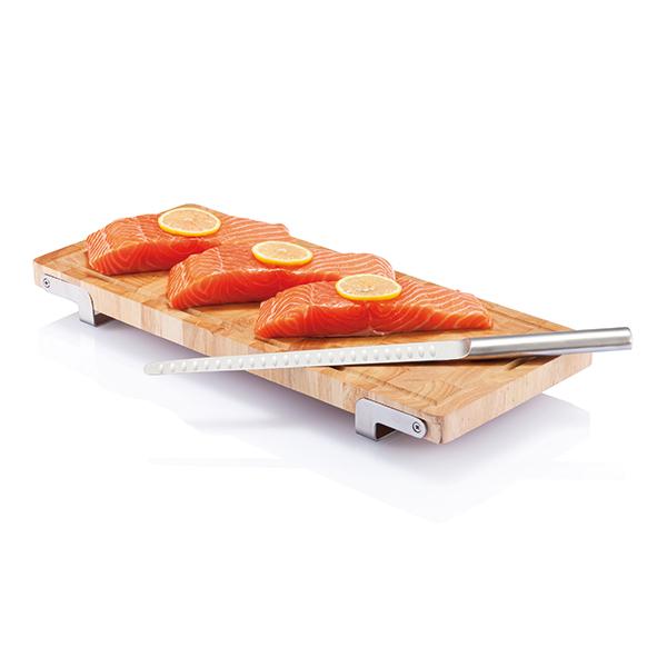 INP261149 Set coltello e tagliere Laxx, per salmone-prosciutto