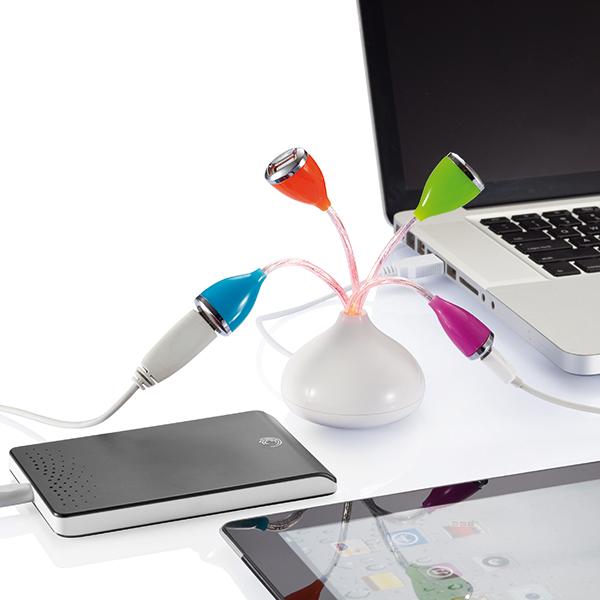 INP300561 Fiore con 4 porte hub USB e LED 2